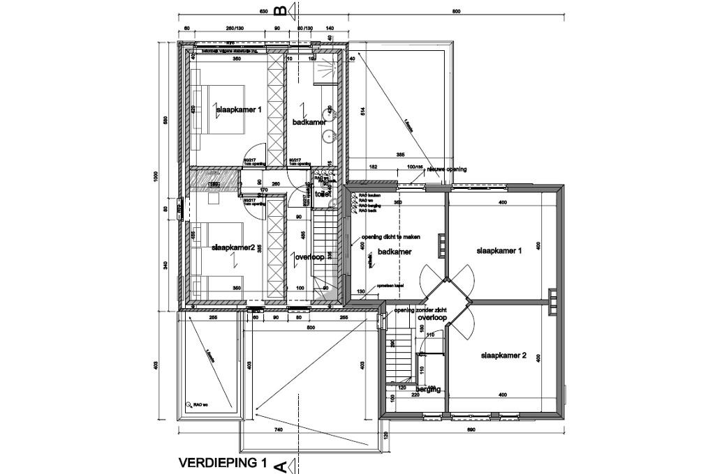 Pand 1 - Verdiepingsplan